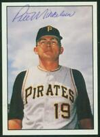Original Autograph of Pete Mikkelsen of the Pitts. Pirates on a 1981 TCMA Card