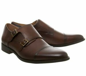Office Import Monk Leather Shoes UK Size 11 Chocolate Leather Sold out in store