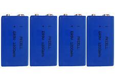 4 x ER9V Block(1200mAh)Lithium Langzeitbatterie Rauchmelder (4 Batterien)