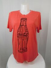 Mighty Fine Trendy Plus Size Coca-Cola Graphic Tee Shirt 2X Heathered Red #2969