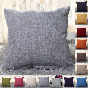 "New 16"" 18"" 20"" 22"" Large Plain Linen Cushion Cover Pillow Cases Home Decor"