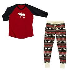 USA Family Matching Adult Women Kids Baby Sleepwear Nightwear Pajamas Christmas