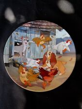 """Disney  Lady and The Tramp  """" Ruff-House """"  Collector Plate  Bradex"""