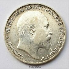 More details for 1902 king edward vll silver .925 sixpence coin, good grade with nice detail.