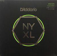 D'Addario NYXL 5-String Bass Guitar Strings 5-string long scale gauges 45-125