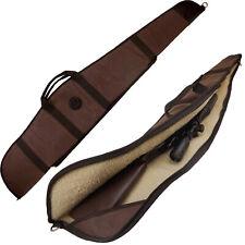 Hunting Padding Gun Slip Bag 52 inch Shotgun Case - Canvas and Leather USA LOCAL
