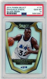 2014 Panini Select Shaquille O'Neal #174 Silver Prizm - Gem Mint PSA 10 - POP 2