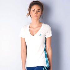 Adidas Essentials 3-Stripes Seasonal T-Shirt Whote Size L UK 16-18 DH086 JJ 25