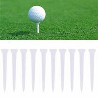 10pcs White Plastic Golf Tees 70mm Long Tool Golf Training Practice T8D8