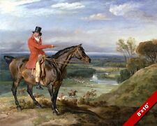ENGLISH FOX HUNT ON HORSEBACK HORSE OIL PAINTING ART REAL CANVAS GICLEE PRINT