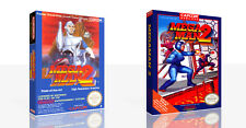 Mega Man 2 NES Replacement Spare Game Case Box + Cover Art Work (No Game)