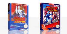 Mega Man 2 Nes Ersatz Spiel Hülle Box + für Work (Kein Spiel)