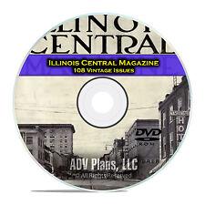 Illinois Central Employees Magazine, Classic Railroad Life History, PDF DVD C88