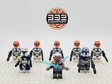 Star Wars Ahsoka Tano Captain Rex Jesse 332nd Ahsoka Clones 8pcs Army Set