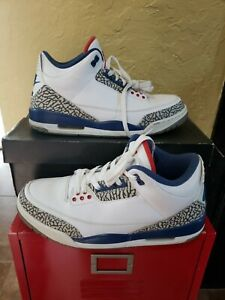 Nike Air Jordan 3 Retro OG True Blue 2016 854262-106 Size 11.5