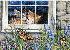 Dimensions Needlecrafts 65051 Feline Love Counted Cross Stitch Kit