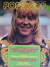 POPSWOP MAGAZINE 10TH NOV 1973 - THE SWEET - DONNY OSMOND - DAVID BOWIE