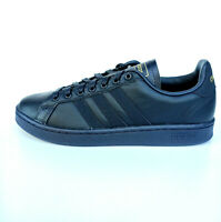 adidas Linear Grand Court Sneaker Herren Blau Gold Tennis Leder Gr42 EE7883 SALE