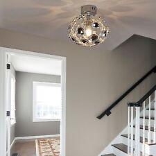 HOMCOM Modern Ceiling Light Lamp Acrylic Shade Polished Surface Silver Living