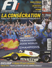 F1 MAGAZINE n°43 01/2007 RENAULT 30 ans de F1 PROST DUDOT KUBICKA