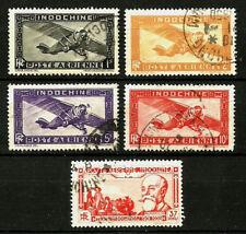 Indochine - Colonie française - 1933-1938 - Poste aérienne n°11 à 15 oblitérés