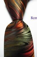 New Classic Paisley Black Red Beige JACQUARD WOVEN Silk Men's Tie Necktie