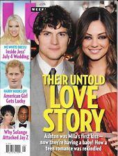 US Weekly magazine Ashton Kutcher Mila Kunis Jessica Simpson Solange Jay-z