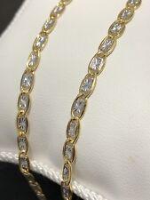 585 Gold Halskette Bicolour.50cm lang,5,5Gramm.Fantasiemodell,neue Kette+Etikett