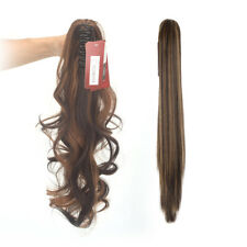 CA 3 Size Long Straight/Curly Ponytail Claw  Hairpiece Hair Extensions One Piece
