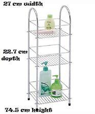 3 Tier Chrome plated multi-purpose storage unit shelf caddy bathroom & kitchen