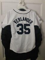 Justin Verlander Detroit Tigers shirt MLB Tiger baseball Jersey NEW Youth Medium