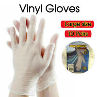 Clear Vinyl Disposable Gloves Powder Free Rubber Free Protective Re-Useable Au