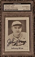 Johnny Mize signed autographed 1978 Grand Slam Hall of Fame HOF PSA Cardinals