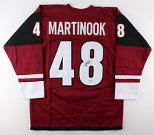 Jordan Martinook Signed Coyotes Jersey (Beckett) 58th Overall pick 2012 Nhl Draf