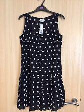 Ladies Bnwt George Black & White Spot Print Dress Size 10 Rrp £16