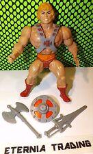 HE-MAN 100% Complete 1981 orig Vtg MOTU figure Armor Ax Sword Weapon Shield #1