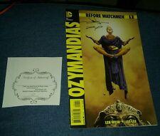 before watchmen ozymandias june chung jae lee double signed Coa comic vintage!