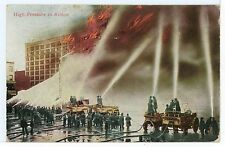 High-Pressure Fire Department Hose Trucks in Action ANTIQUE NYC NYFD 1911