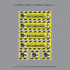 7 x Motion WiFi Camera Recording Stickers CCTV In Car Dash Video Sticker SKU4070