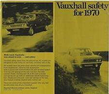 VAUXHALL SAFETY FOR 1970 BROCHURE V1945 10.69 RARE (UK)
