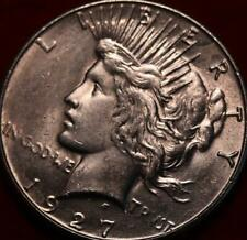 Uncirculated 1927-S San Francisco Mint Silver Peace Dollar