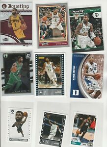KYRIE IRVING LOT (18) DIFFERENT W/ 2 INSERTS OPTIC BASE CARTOON STICKER PARALLEL