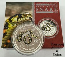 2013 Year of the Snake 1oz Silver Coloured Australian Proof Coin