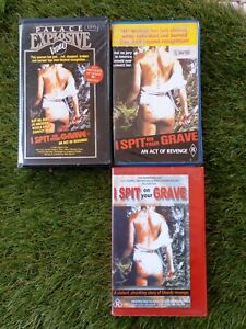I SPIT ON YOUR GRAVE. 3x Cover Variations. Rare Horror Vhs.