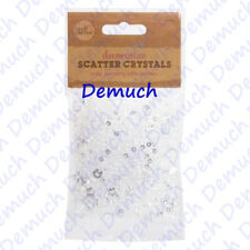 New 5000x Clear SCATTER CRYSTALS Table Decoration Diamond Confetti Sparkles UK ✔