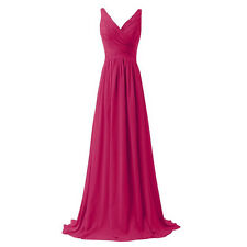 Long Chiffon Prom Dress Evening Party Formal Ball Gown Bridesmaid Wedding Stock