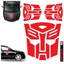 TRANSFORMERS AUTOBOT RED CAR GRAPHICS SET OF 4 DECALS  #smar16-111