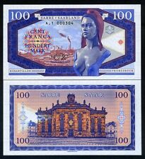 SARRE / SAAR  - Billet de 100 FRANCS - 2017 - ECHANTILLON - NEUF