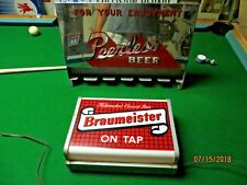 Milwaukee's Choicest Beer Braumeister on tap,lighted working beautiful bar sign