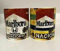 x2 ARYTON SENNA Oil Can Gift Mechanic Gift Tea Coffee vintage F1 FORMULA